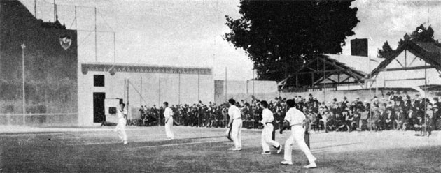 Basque Pelota Demonstration at the 1924 Olympic Games