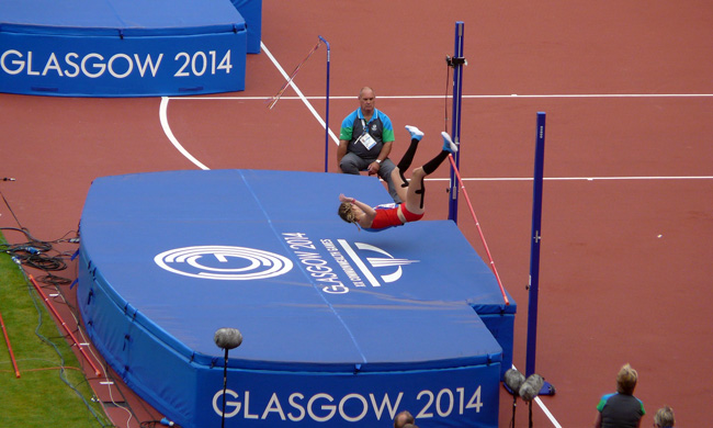 high jump event at Glasgow Commonwealth Games 2014