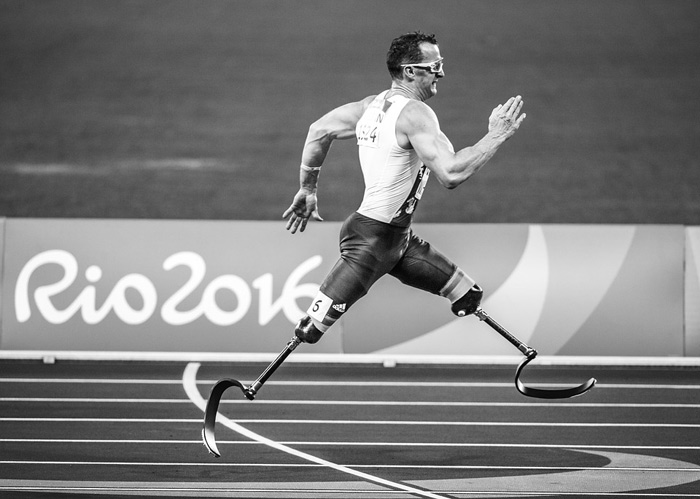a paralympic sprinter at the 2016 Rio Olympic Games